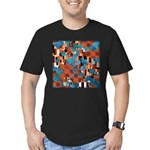 Klimtified! - Rust/Turquoise Men's Fitted T-Shirt