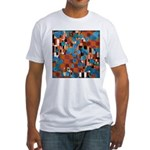 Klimtified! - Rust/Turquoise Fitted T-Shirt
