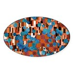 Klimtified! - Rust/Turquoise Sticker (Oval 10 pk)