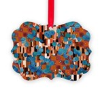 Klimtified! - Rust/Turquoise Picture Ornament