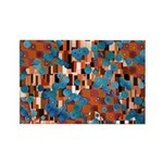 Klimtified! - Rust/Turquoise Rectangle Magnet (100