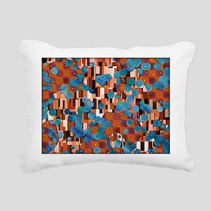 Klimtified! - Rust/Turquoise Rectangular Canvas Pi