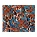 Klimtified! - Rust/Turquoise Throw Blanket