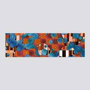 Klimtified! - Rust/Turquoise 36x11 Wall Decal