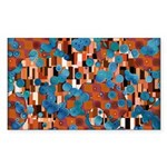 Klimtified! - Rust/Turquoise Sticker (Rectangle 50