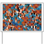 Klimtified! - Rust/Turquoise Yard Sign
