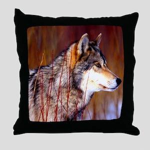 Timber Wolf - White Wolf Throw Pillow