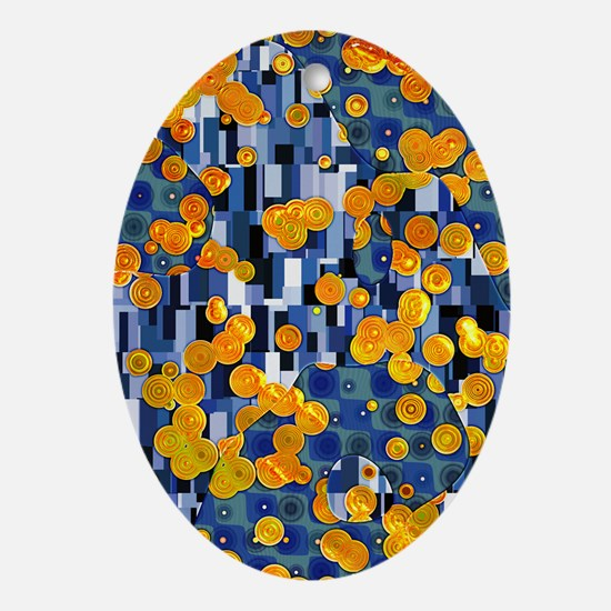 Klimtified! - Gold/Blue Ornament (Oval)