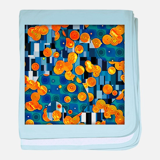 Klimtified! - Gold/Blue baby blanket