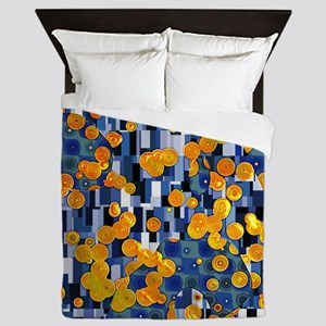 Klimtified! - Gold/Blue Queen Duvet