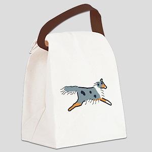 Blue Merle Sheltie Canvas Lunch Bag