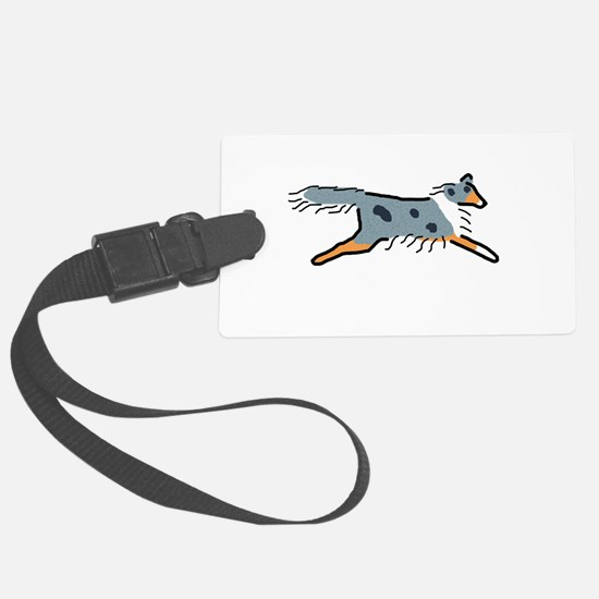 Blue Merle Sheltie Luggage Tag