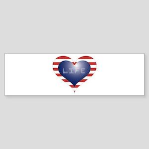LIFE HEART Sticker (Bumper)