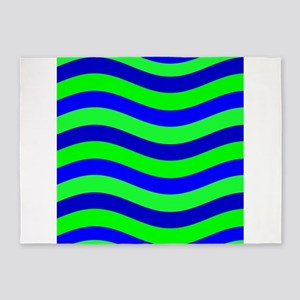 Do the Wave Blue Green Wild One 23 5'x7'Area Rug