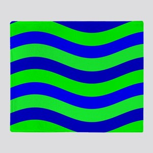 Do the Wave Blue Green Wild One 23 Throw Blanket