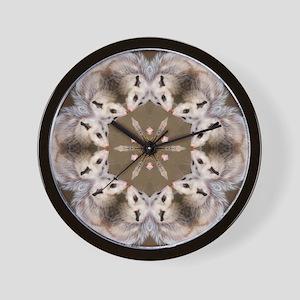 Opossum Mandala Wall Clock