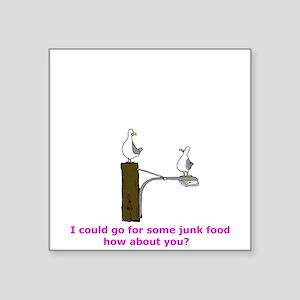 """Junk Food Square Sticker 3"""" x 3"""""""