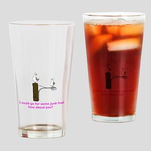 Junk Food Drinking Glass