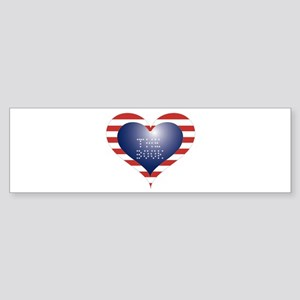 THE BOOK HEART Sticker (Bumper)
