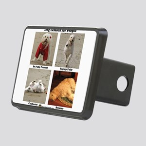 Dog Lessons for People Rectangular Hitch Cover