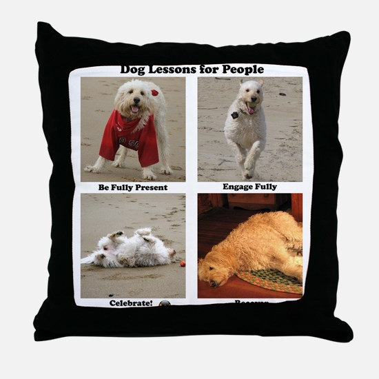 Dog Lessons for People Throw Pillow