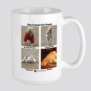 Dog Lessons for People Large Mug