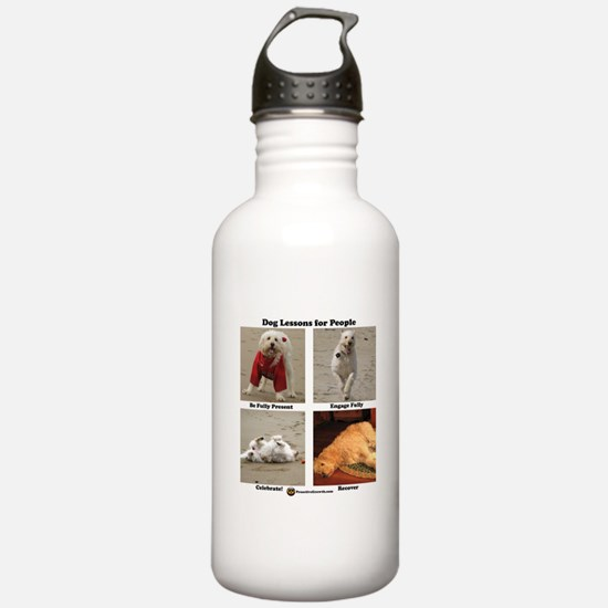 Dog Lessons for People Water Bottle