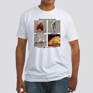 Dog Lessons for People Fitted T-Shirt