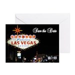 Las Vegas Save the Date Cards Pk of 10