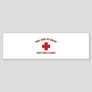 Feel safe at night - Sleep with a nurse Sticker (B