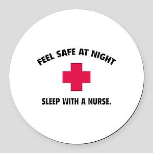Feel safe at night - Sleep with a nurse Round Car