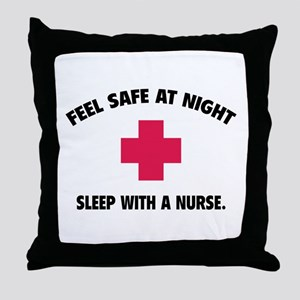 Feel safe at night - Sleep with a nurse Throw Pill