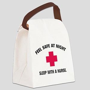 Feel safe at night - Sleep with a nurse Canvas Lun