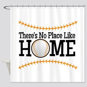 No Place Like Home BG Shower Curtain