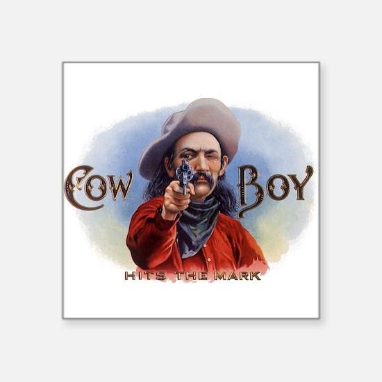 Vintage Cigar Label Art, Cowboy Hits the Mark Stic