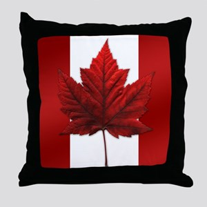 Canada Flag Maple Leaf Art Throw Pillow