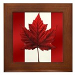 Canada Flag Maple Leaf Art Framed Tile Souvenir