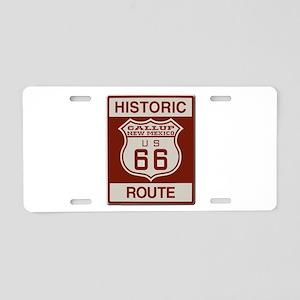 Gallup Historic Route 66 Aluminum License Plate