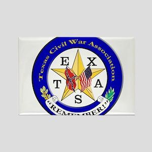 TexCivWar-Logo Rectangle Magnet