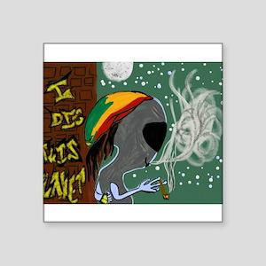 Rasta Alien - I Dig This Planet Sticker
