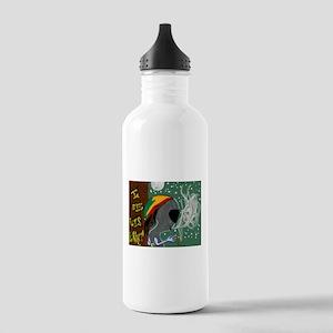 Rasta Alien - I Dig This Planet Water Bottle