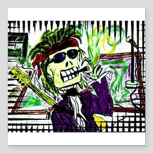 """Rock 'n Bones Square Car Magnet 3"""" x 3"""""""