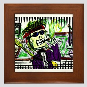 Rock 'n Bones Framed Tile