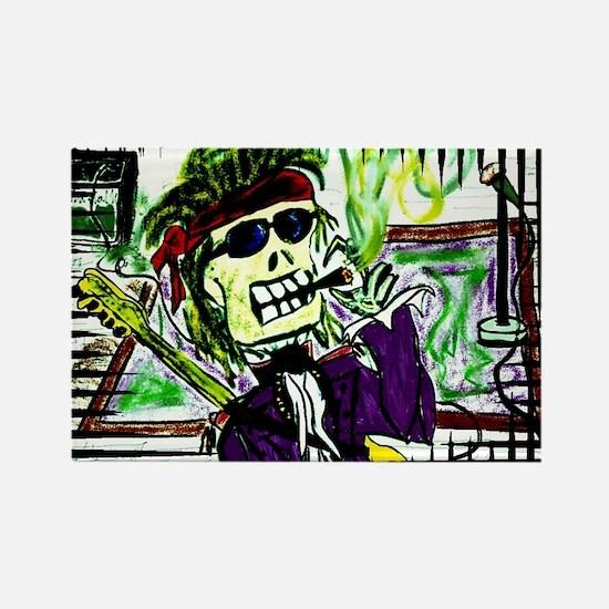 Rock 'n Bones Rectangle Magnet