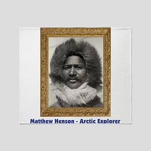 Matthew Henson - Arctic Adventurer Throw Blanket