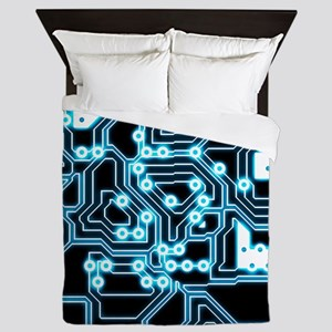 ElecTRON - Blue/Black Queen Duvet