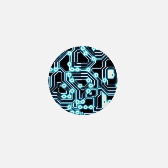 ElecTRON - Blue/Black Mini Button