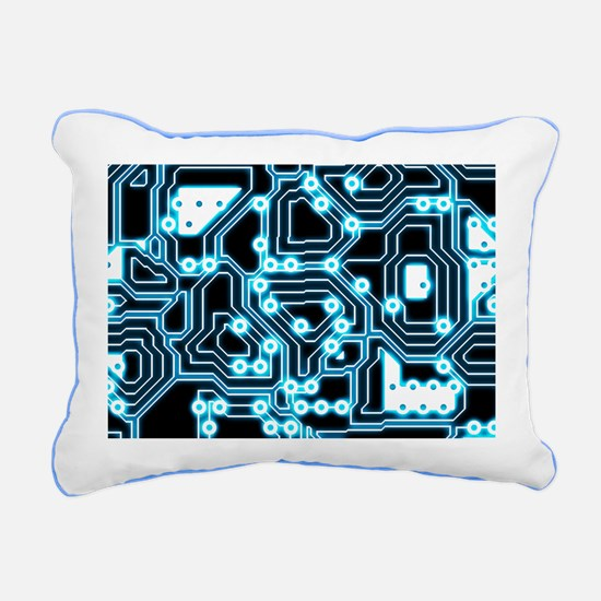 ElecTRON - Blue/Black Rectangular Canvas Pillow