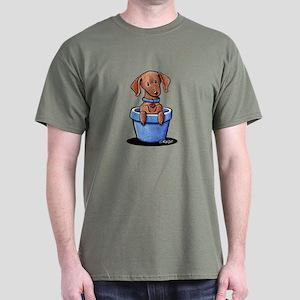 KiniArt Potted Doxie Dark T-Shirt