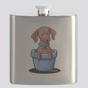 KiniArt Potted Doxie Flask
